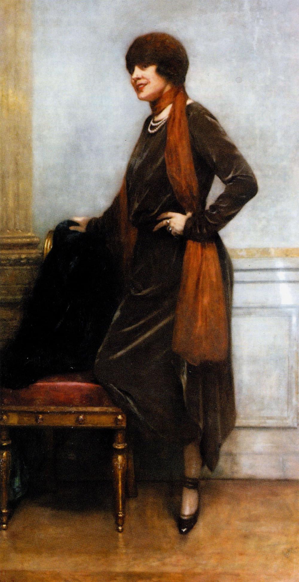 "Jeanne Sacerdote (""Jenny""), painted by Henri Gervex, 1921"