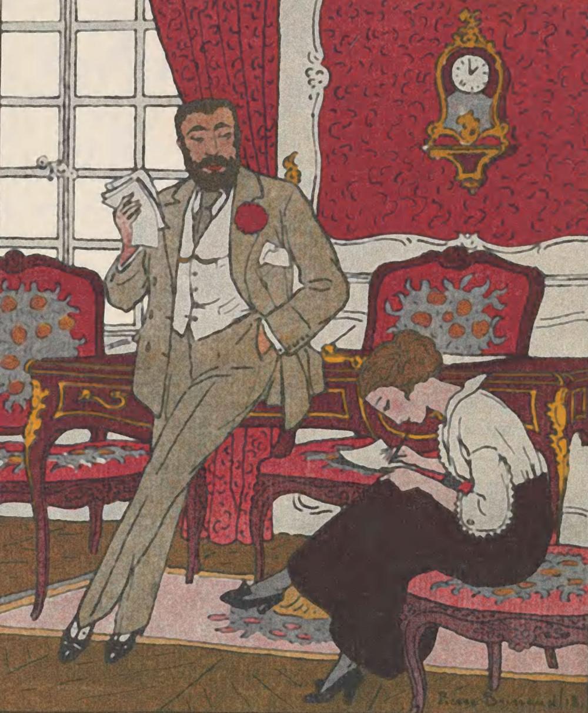 Paul Poiret as portrayed in Gazette du Bon Ton, May 1913.
