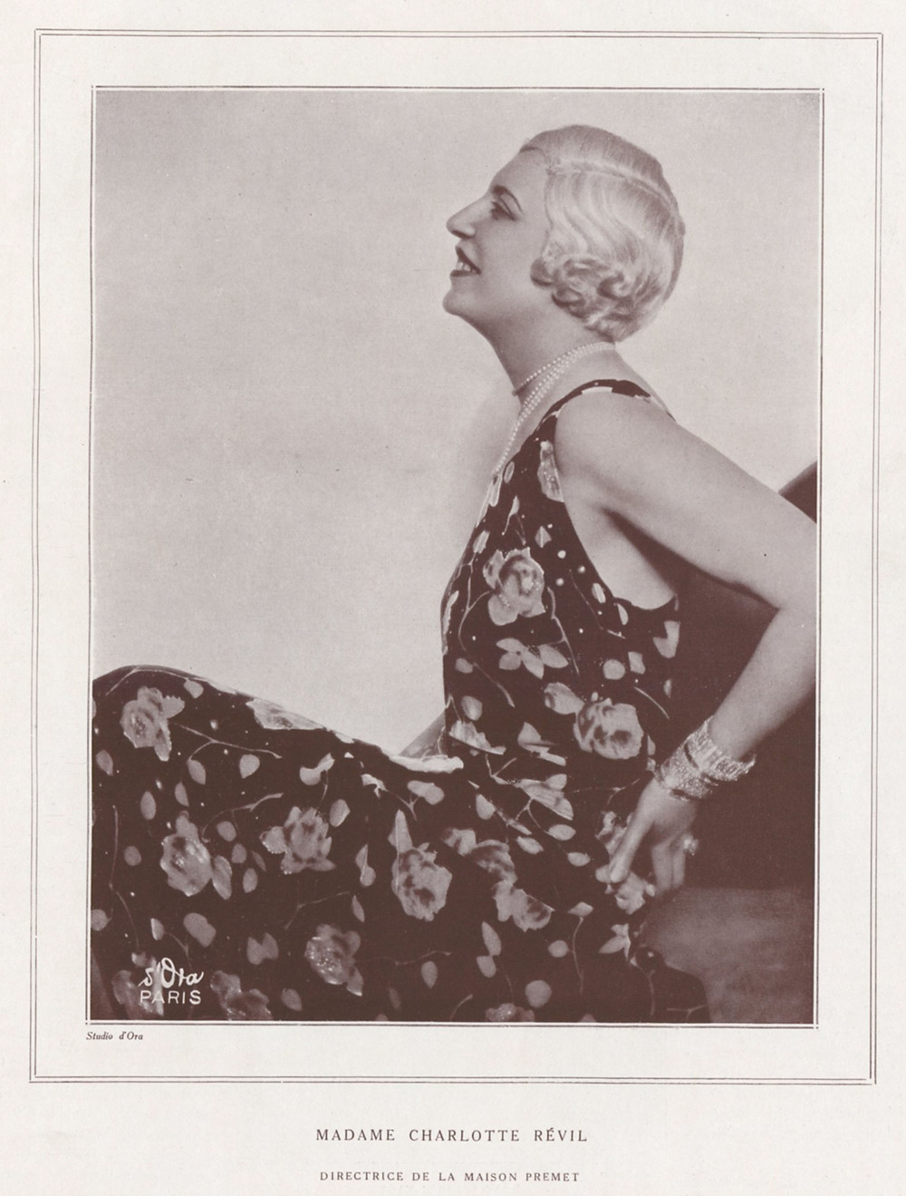 Charlotte took over from Renee in 1918 as designer for Premet and stayed on until 1930. From Les Modes, 1929.