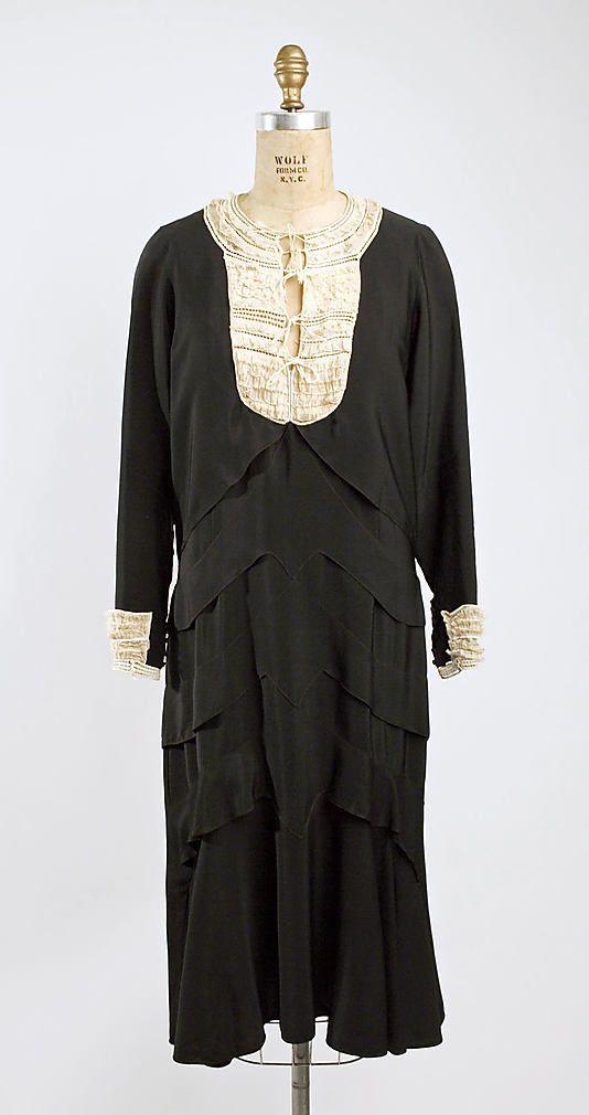 "1929 ""La Garconne"" dress by Premet. Costume Institute, Metropolitan Museum of Art."