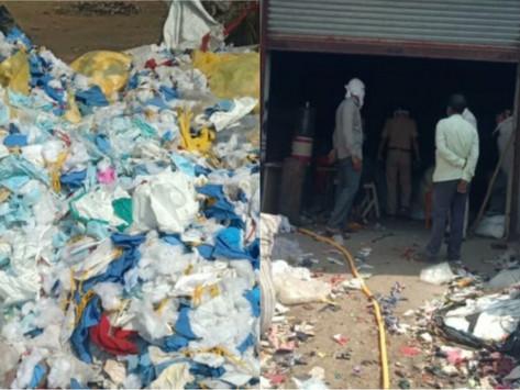 Fábrica en la India llenaba sus colchones con tapabocas usados