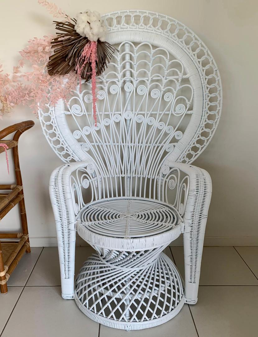 Coastal Rush Peacock Chair
