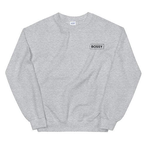 Bossy Embroidered Sweatshirt