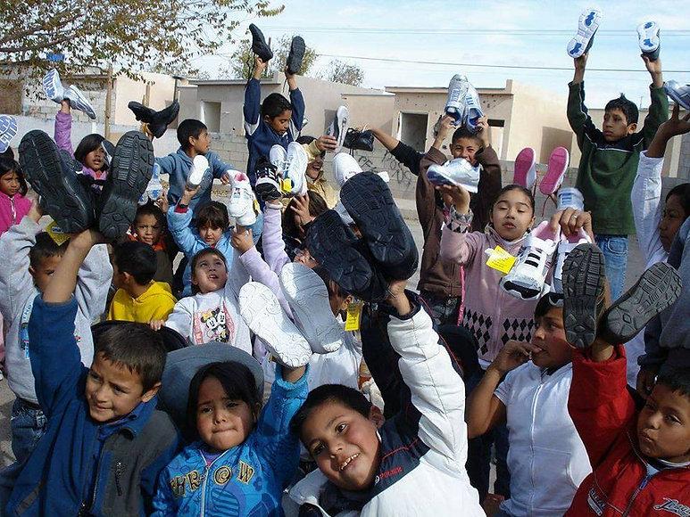 Juarez, Mexico Shoe Giveaway