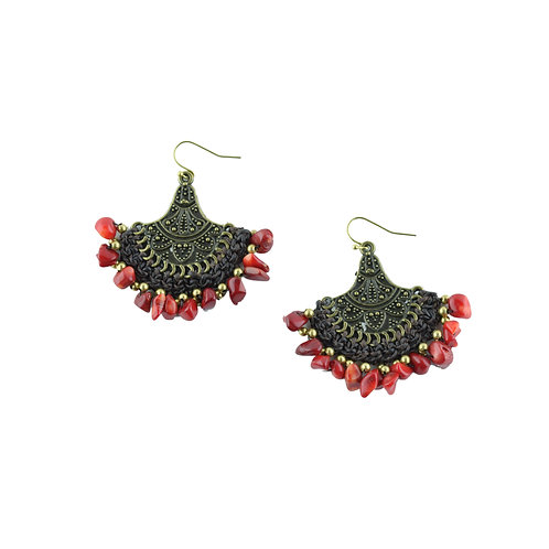 Warm Rain on Fire Earrings