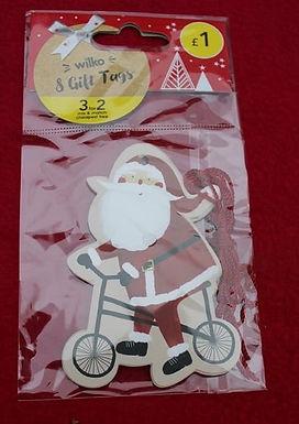 Father christmas on bike (8pcs)