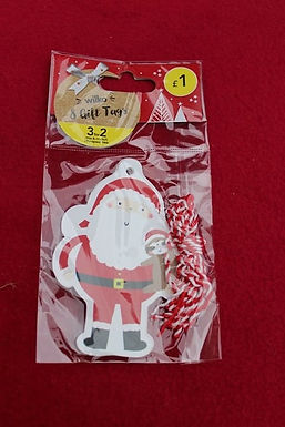 Father christmas with sloth gift tags (8pcs)