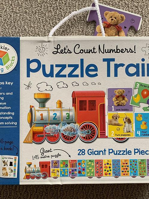 Lets Count Numbers Puzzle Train - 28 Piece Giant Puzzle (07976975903)