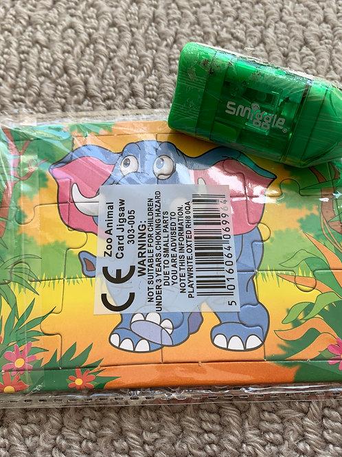 Smiggle Pencil Sharpener and Mini Puzzle (07976975903)