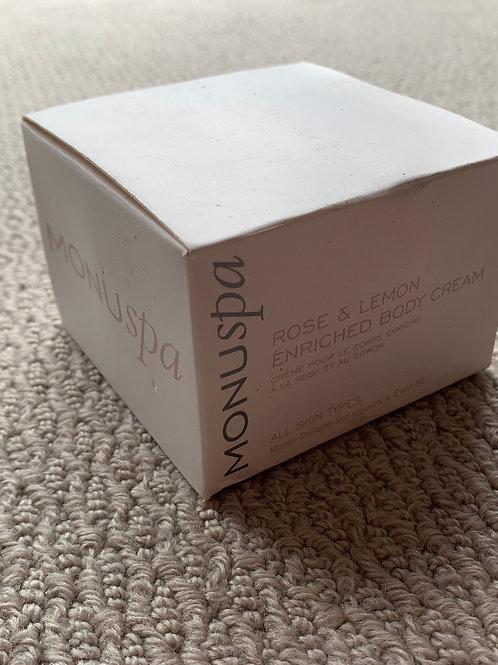 MONU SPA Rose & Lemon Enriched Body Cream (07976975903)