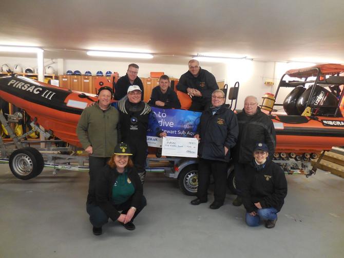 Fantastic donation from Sub Aqua Club