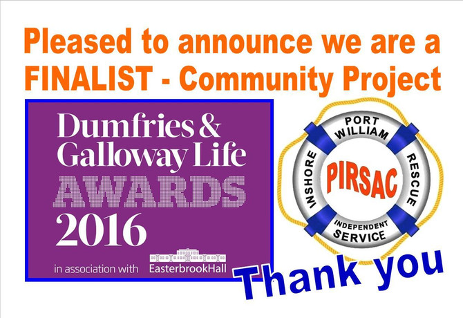 FINALIST - Dumfries and Galloway Life Awards 2016