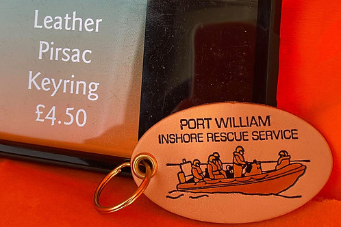 Leather pirsac lifeboat keyring