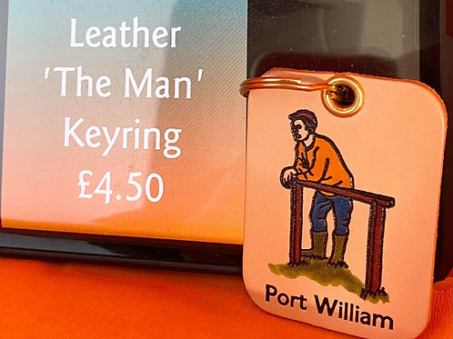 Leather 'The Man' keyring