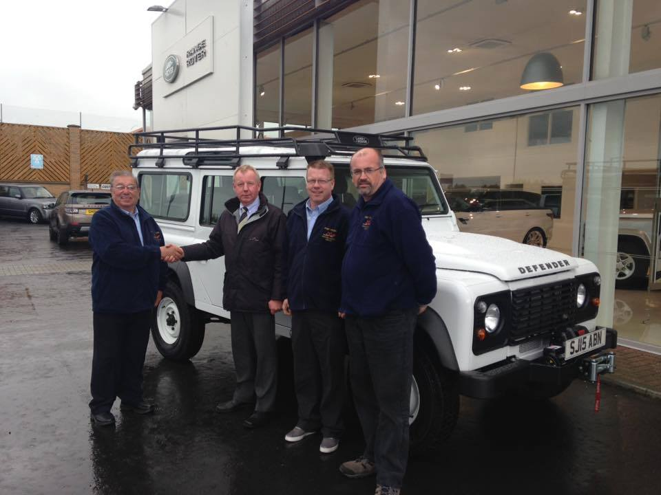collecting the new land rover