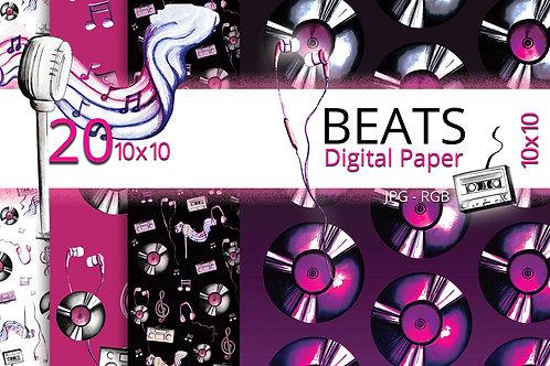 Beats Music Inspired Digital Paper
