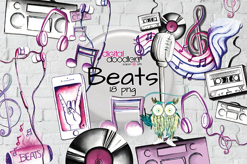 Beats Music Inspired Graphics