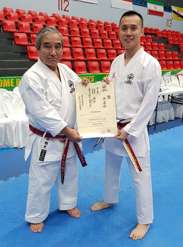 Shihan Eugene's Official Certification from IKGA