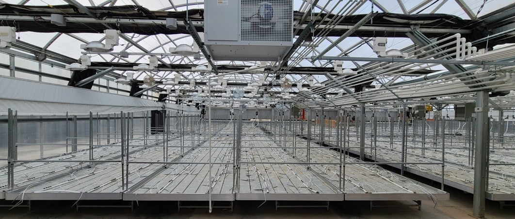 Rolling benches and Fertigation