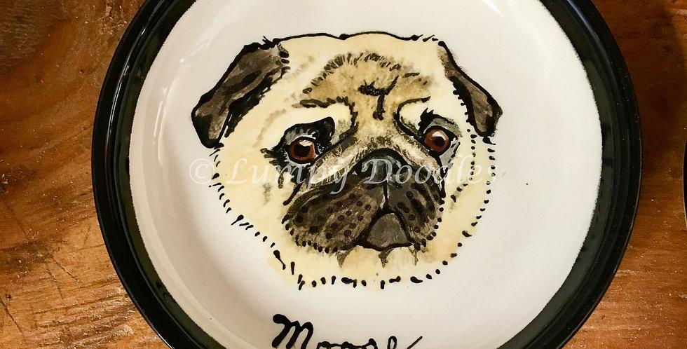 Custom Pet Portrait on 4-in. Plate