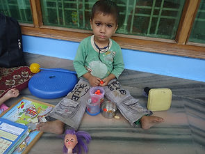 Education activity with a disabled child