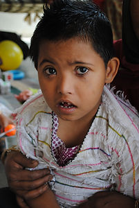 One of the children the REGE Foundation supports