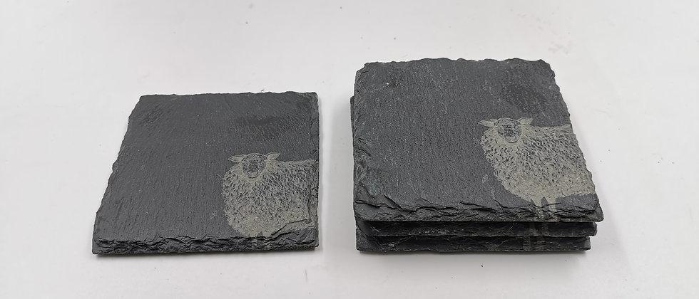 'Sheep' Slate Coasters