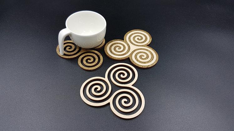 Triskele Coasters