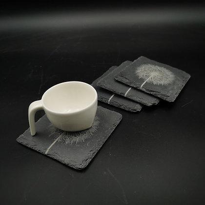 'Dandelion' Slate Coasters