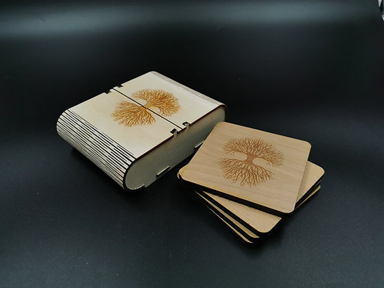'Earth Tree' Coaster Set