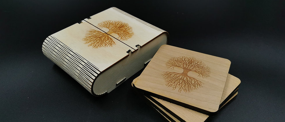 'Earth Tree' Coaster Set