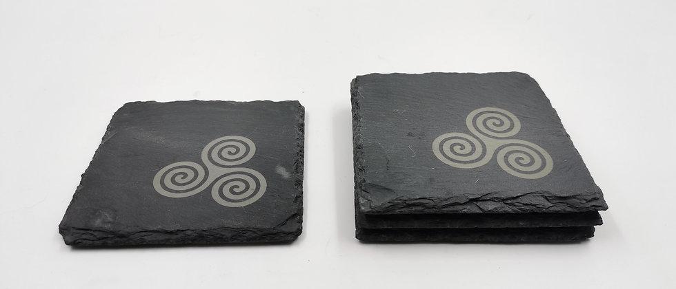 'Triskele' Slate Coasters
