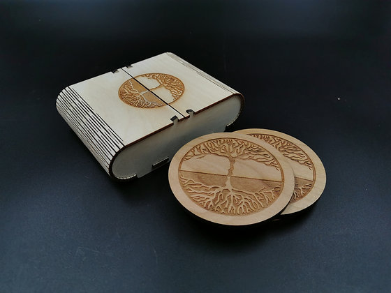 'Root Tree' Coaster Set
