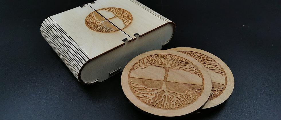 'Root Tree' Coaster Set