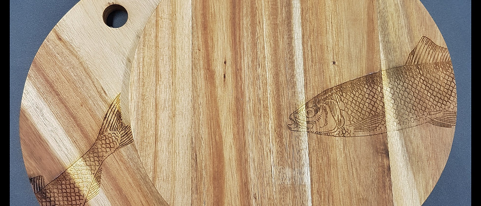 Round Fish Chopping Board