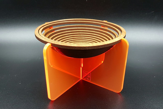 Spiral Bowl (Fluorescent Orange)