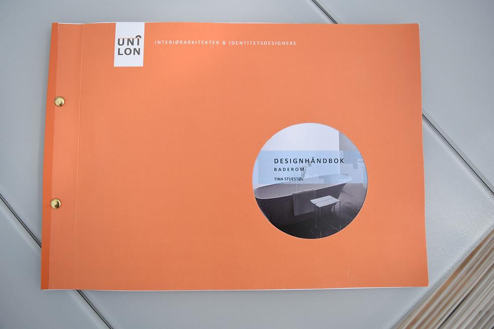 Designhåndbok med konsept for badet vårt fra Unilon.