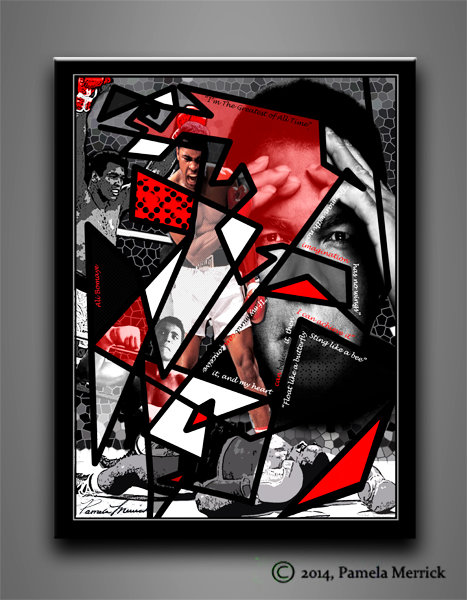 """Stained Glass Ali"" Stretched Canvas Print 12""x16"""