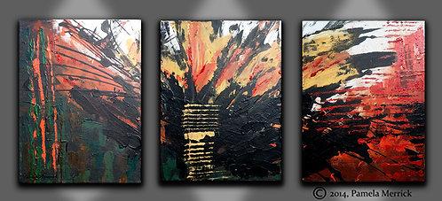 """Eruption""- Original Painting"