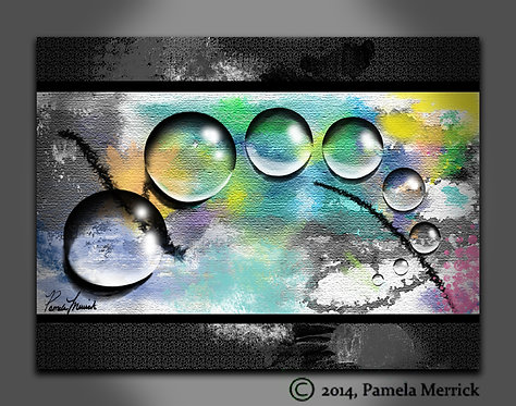 """Spring Dew Drops"" Stretched Canvas Print 12""x16"""