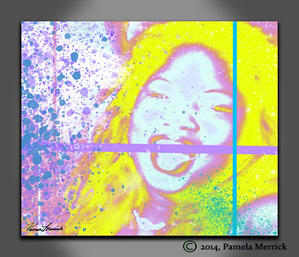 """""""Tickle Me Pink"""" Print on Stretched Canvas"""