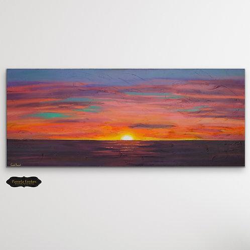 Tequila Sunrise #1-Original Painting