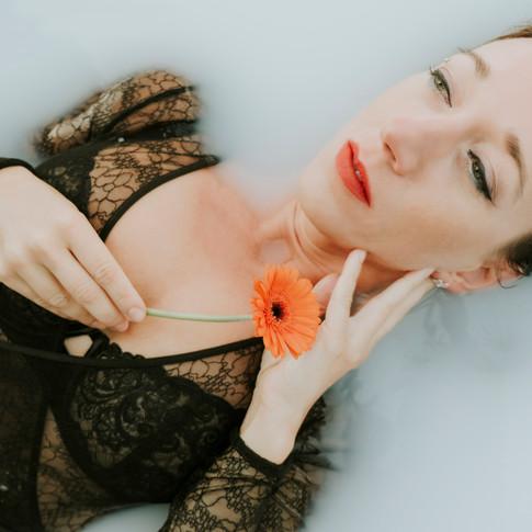 Milk Bath Boudoir Inverness/ Studio Portrait