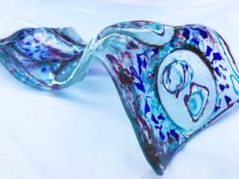 Glass, paint.  50cm x 26cm x 8cm.