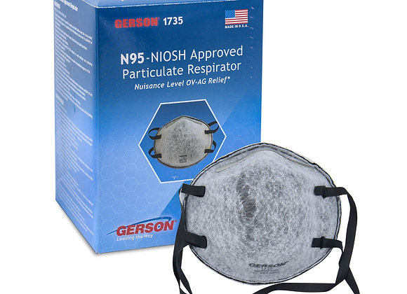 Gerson 1735 N95 Particulate Respirators w/OV-AG Nuisance Relief (Made in USA)