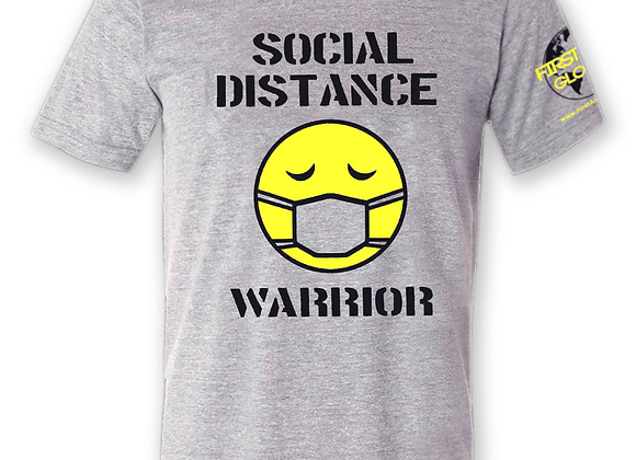 """Social Distance Warrior"" T-Shirt in Grey"