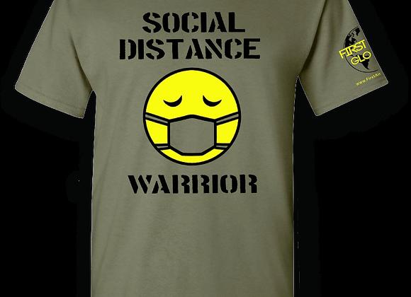 """Social Distance Warrior"" T-Shirt in Green"