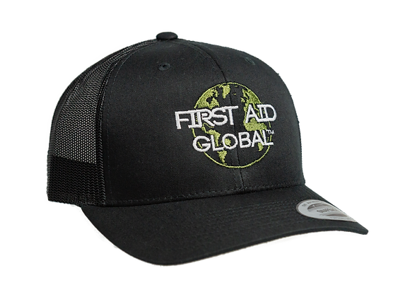 First Aid for the Planet Black Vented SnapBack Cap