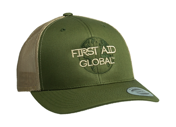 First Aid for the Planet Green Vented SnapBack Cap