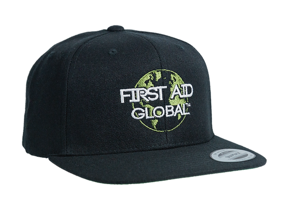 First Aid for the Planet Black 50/50 SnapBack Cap